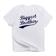 Biggest Brother (Blue Text) Infant T-Shirt