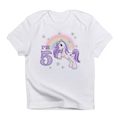 Pretty Pony 5th Birthday Infant T-Shirt