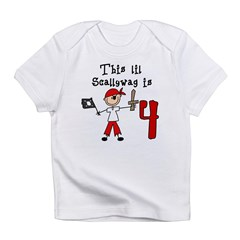 Stick Pirate 4th Birthday Infant T-Shirt