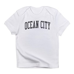 Ocean City New Jersey NJ Black Infant T-Shirt