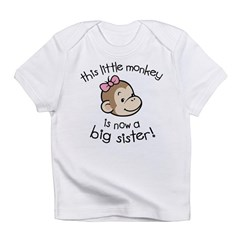 Big Sister - Monkey Face Infant T-Shirt