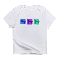 Color Row Curly Coated Infant T-Shirt