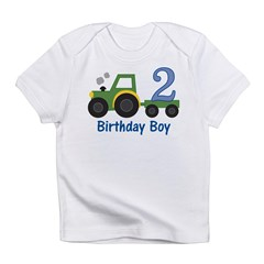 2nd Birthday Tractor Infant T-Shirt