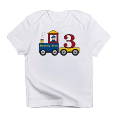 3 Year Old Birthday Train Infant T-Shirt