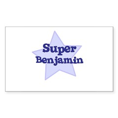 Super Benjamin Oval Sticker (Rectangle)