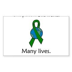 One Person. Many Lives. Oval Sticker (Rectangle)