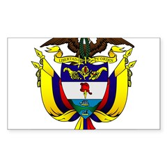 Colombian Coat of Arms Oval Sticker (Rectangle)