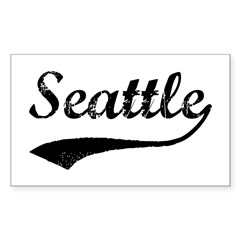 Vintage Seattle Sticker (Rectangle)