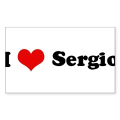 I Love Sergio Sticker (Rectangle)