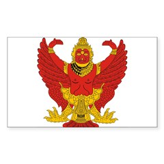 Thailand Emblem Oval Sticker (Rectangle)