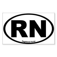 Registered Nurse Oval Sticker (Rectangle)