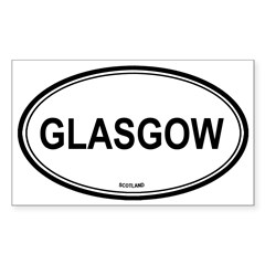 Glasgow, Scotland euro Oval Sticker (Rectangle)