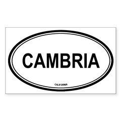 Cambria oval Oval Sticker (Rectangle)