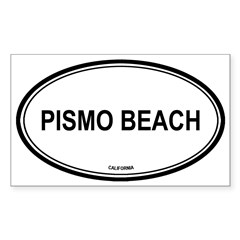 Pismo Beach oval Oval Sticker (Rectangle)
