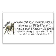 """Pit Bull"" Sticker (Rectangle)"