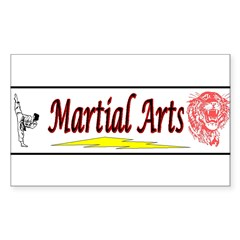 Tiger Martial Arts Sticker (Rectangle)