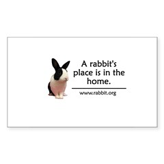 A rabbits place is in the hom Oval Sticker (Rectangle)