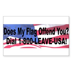 Does My Flag Offend You Sticker (Rectangle)