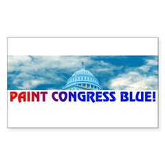 PAINT CONGRESS BLUE! Sticker (Rectangle)