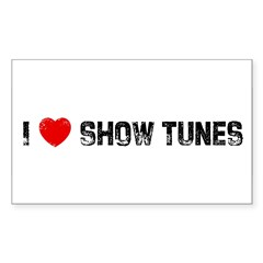 I * Show Tunes Sticker (Rectangle)