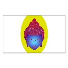 purple buddha Oval Sticker (Rectangle)