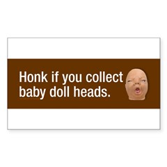 Collect baby doll heads Sticker (Rectangle)