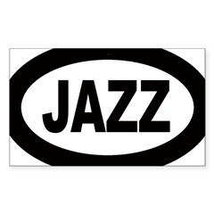Jazz Car Oval Sticker (Rectangle)