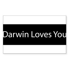 Darwin Loves You Sticker (Rectangle)