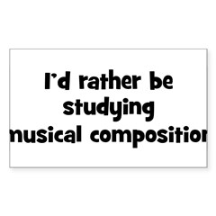 Study musical composition Sticker (Rectangle)