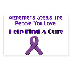 alzheimer's steals Sticker (Rectangle)