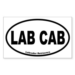 Lab Cab Oval Sticker (Rectangle)