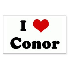 I Love Conor Sticker (Rectangle)