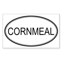 CORNMEAL (oval) Oval Sticker (Rectangle)