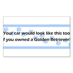 Your Car Golden Retriever Sticker (Rectangle)
