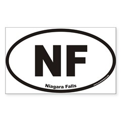 Niagara Falls NF Euro Oval Sticker (Rectangle)