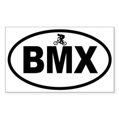 BMX Rider Oval Sticker (Rectangle)