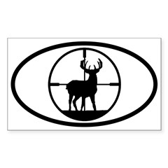 Hunting Stag Oval Sticker (Rectangle)