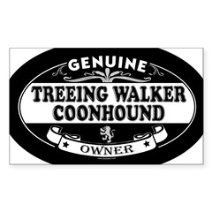TREEING WALKER COONHOUND Oval Sticker (Rectangle)