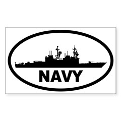 NAVY Destroyer Oval Sticker (Rectangle)