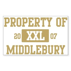 Property of Middlebury Sticker (Rectangle)