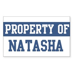 Property of NATASHA Sticker (Rectangle)