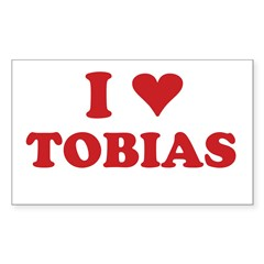 I LOVE TOBIAS Sticker (Rectangle)