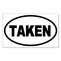 Taken Oval Oval Sticker (Rectangle)