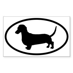 Dachshund Oval Sticker (Rectangle)