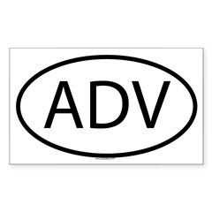 ADV Oval Sticker (Rectangle)
