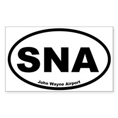 John Wayne Airport Oval Sticker (Rectangle)