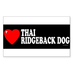 THAI RIDGEBACK DOG Sticker (Rectangle)