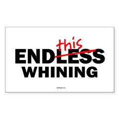 EndThis Whining Oval Sticker (Rectangle)