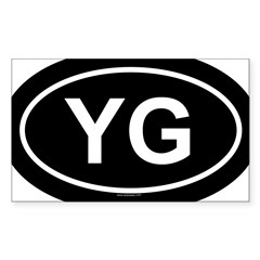 YG Oval Sticker (Rectangle)