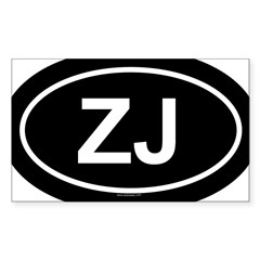 ZJ Oval Sticker (Rectangle)
